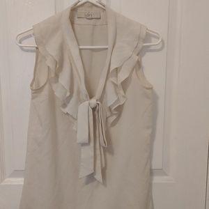 Ann Taylor LOFT sleeveless tie-neck blouse